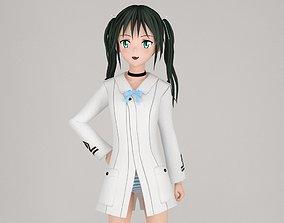 female 3D model Francesca Lucchini anime girl pose 01