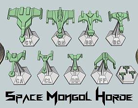 3D printable model MicroFleet Space Mongol Horde Starship