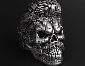 Skull bearded vol2 ring jewelry 3D printable model