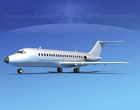 3D model Douglas DC-9-15 Bare Metal