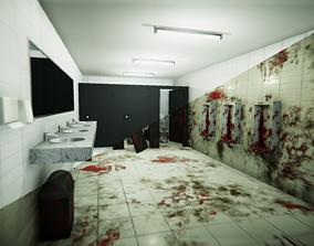3D model Public Bathroom Clean BloodDirt