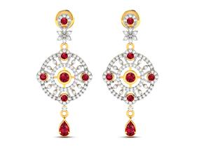 sterling Women earrings 3dm render detail
