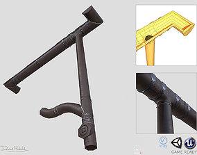3D model Old brown Gutter System PBR