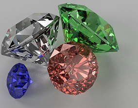 Diamonds 3D model
