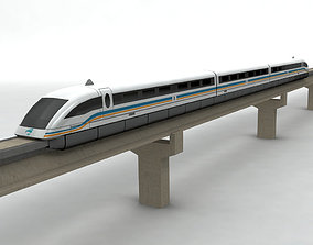 3D model Transrapid Shanghai Train and Track
