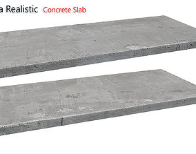 3D model realtime Ultra realistic Concrete slab