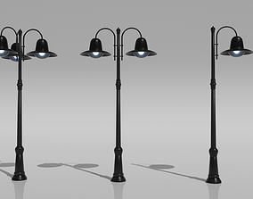 3D model low-poly vr Street Light