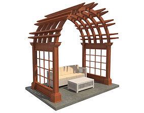 Pergola 4 3D model