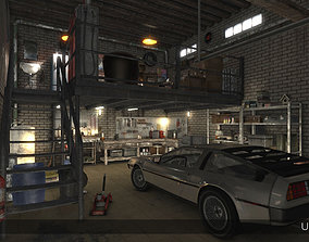 Auto Repair Shop - High Detail Garage 3D asset