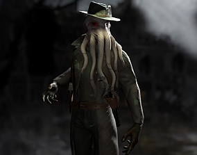 Octopus Detective Monster 3D asset
