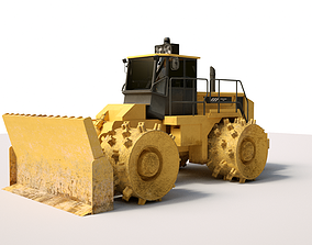 Construction Bulldozer with textures - High Quality 3D