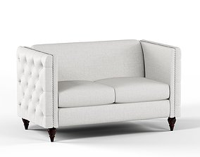 3D model Furniture of America Jada Tufted Loveseat Gray