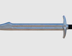 3D model Falchion Sword - Game Ready