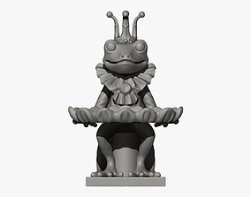 Frog and Dish Statuette 3D print model