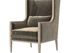 Restoration Hardware FRENCH SLOPE ARM WINGBACK CHAIR 3D