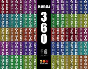 3D model meditation Mandala 360 Collection