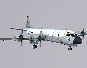 Lockheed P-3 Orion 3D model realtime