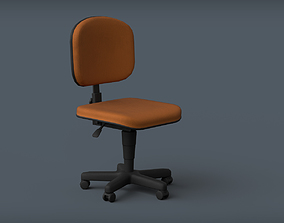 Office Chair 3D model game-ready PBR