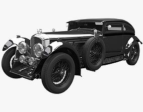 3D model Bentley Blue train Black