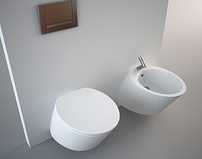 Nic Design Monolite Bidet and Toilet 3D asset