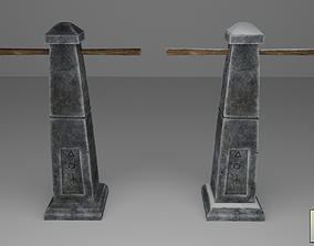 Stylized Runic Pillar 3D asset