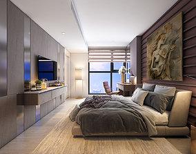 3D model P Apartment Interior A2 Bedroom 2