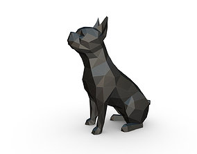 Boston terrier low poly 3D print model