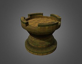 old 3D asset low-poly Tower