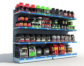 Sports Store Nutrition Shelves 3D
