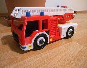 3D printable model Fire truck toy ladderfiretruck