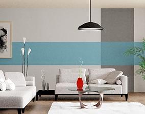 Living Room Design 3D asset realtime