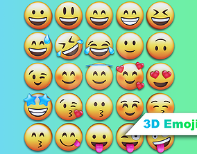 whatsapp 3D Emoji Set With 25 Emojis game-ready