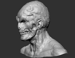 Zombie Head 3D printable model