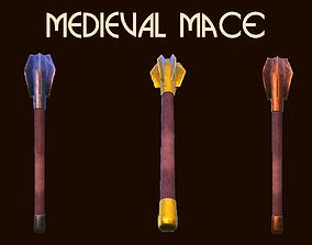 3D asset Customize Medival Mace
