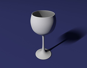 3D printable model Red wine glass