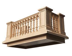 3D model Balcony 01
