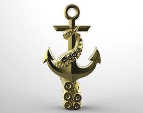3D printable model Tentacle anchor pendant