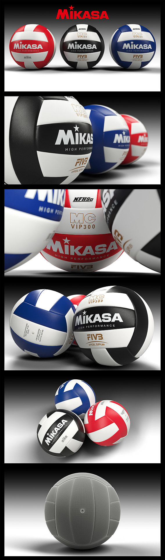 Volleyball - ball - Mikasa VIP300 Series