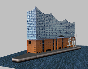 Hamburg Elbphilharmonie theater Low-poly VR / AR ready