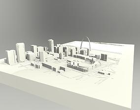 3D model Downtown St Louis Missouri