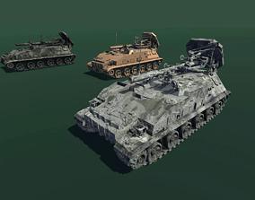 Self-propelled Mortar 3D asset