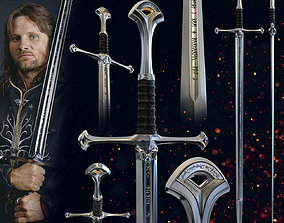 3D printable model ARAGORN SWORD ANDURIL - LORD OF THE