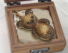 jewelry Baby Bear pendant 3D printable model