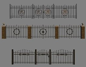 Wrought Iron Fence Kit 3D model
