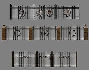 Wrought Iron Fence Kit 3D model