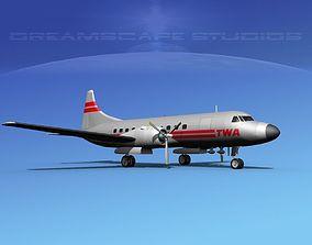 Convair CV-340 Trans World 3D