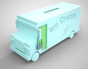Ice Cream Van Moneybox 3D printable model