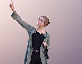 3D asset Marie 10692 - Woman Standing And Pointing