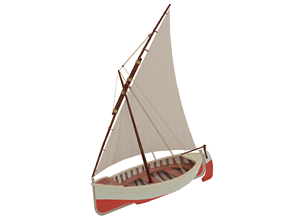 3D asset Sail Boat