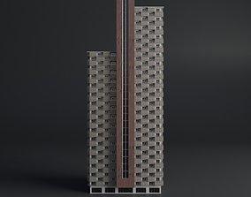 SKYSCRAPER CITY BUILDING 01 3D model low-poly